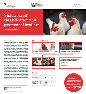 Vision based classification and payment of broilers CCM