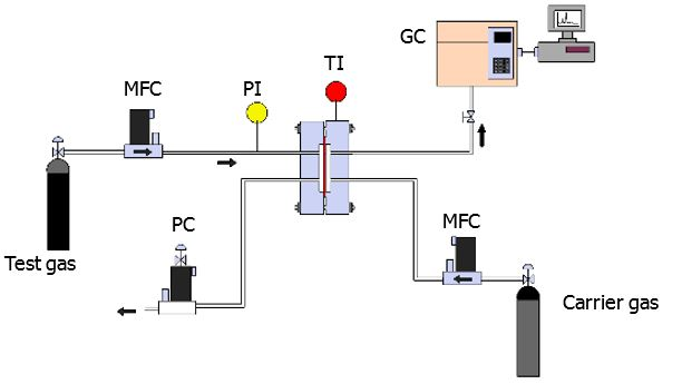 Gas Measuring Instruments : Gas and liquid permeability of polymer materials