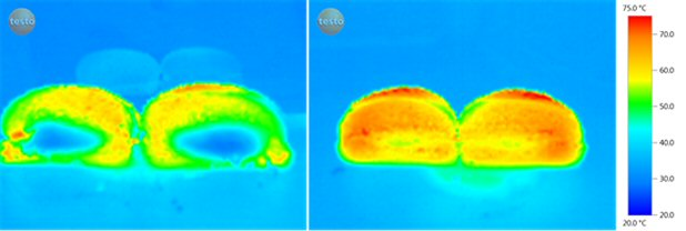 Infrared thermography - Sandwich in packaging