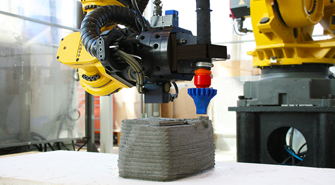 3D print med beton på Teknologisk Institut